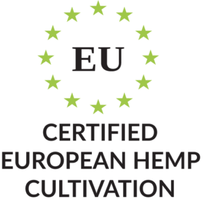 Certified European Hemp Cultivation mit Produktmerkmal Icon