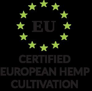 Certified European Hemp Cultivation mit Produktmerkmal Icon