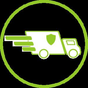 Zeichen für schnelle und sichere Lieferung