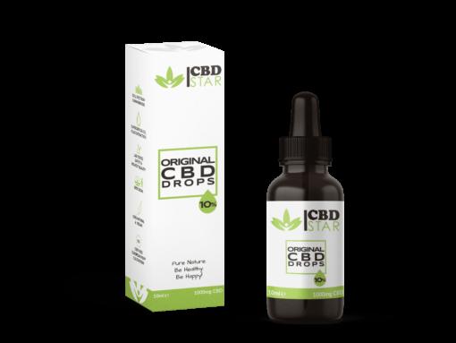 Naturreine CBD Öl Tropfen 10% in Flasche mit CBD Verpackung